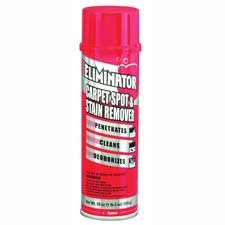 ITW Dymon Products - Spot/Carpet Cleaner, No Residue, Deodorizes, Red - Sold as 1 EA - Eliminator Carpet Spot and Stain Remover quickly penetrates, cleans and removes spots and stains. Deodorizes as it penetrates and cleans without leaving residue. Freshens and brightens as it restores nap and texture. Quickly penetrates, cleans and removes spots and stains. Use carpet spot and stain remover on grease, mud, dirt, soil, coffee, urine and blood.