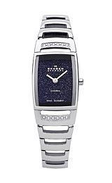 Skagen Black Label Black Glitter Dial Women's Watch #985SSXN