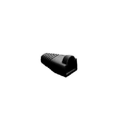 Neklan 1010030 Pack de 10 Manchons pour RJ45 Diamètre 6,1 mm Noir