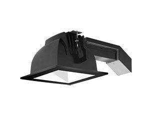 Rab Lighting Rdled6S20L-50Yn-W-B Black Trim Ring 50Deg White Square Trim Cone 20W 3500K Warm Led Dimmable Lutron 6'' Square Remodeler Led Downlights Module