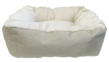 Precision Pet Bumper Pillow Bed, 32 By 25 By 7-Inch, Beige/Beige front-1024757