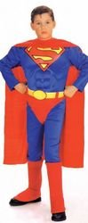 Justice League - Boy's Costume: Superman w/Chest- Small
