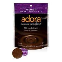 Adora Calcium Dark Chocolate, Dark 30 ct (Pack of 2)