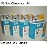 ** IN DATE ONLY ** FULL SET - HP Hewlett Packard No11 cyan magenta yellow No10 black ink colour printer cartridges - (CLICK TO VIEW supported printers)