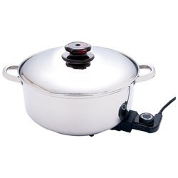 Digital Slow Cookers: Precise Heat 12 Inch Surgical Stainless Steel Deep Electric Skillet/Slow Cooker