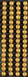 Crystal Stickers Glitter Domes 5mm 64/Pkg-Gold
