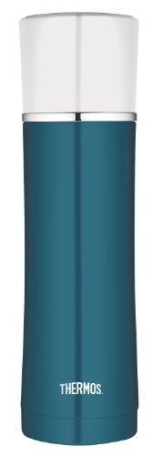 Thermos 16-Ounce Stainless Steel Beverage Bottle, Teal front-869329