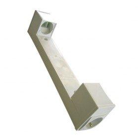 Applique salle de bains blanc avec interrupteur et prise 2 phases terre for Applique salle de bain avec interrupteur et prise