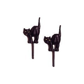 Halloween Black Cat Cupcake Picks - 24 ct