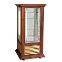 Lowe Refrigeration Inc. K2T-WCR Wood Finish Rotating Candy Display Cooler