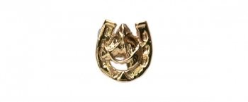 Horse Head in Horse Shoe 9ct Gold Tie Tack