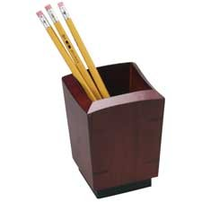 rolodex-executive-pencil-holder-wood-mahogany-sold-as-1-each-rol19230