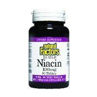Natural Factors, Niacin, 100 mg, 90 Tabletten