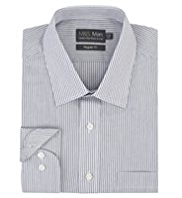 Cotton Rich Easy to Iron Twin Striped Shirt