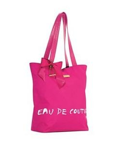 JUICY COUTURE VIVA LA JUICY PINK LADIES TOTE BAG WITH BOW & CHAIN DESIGN