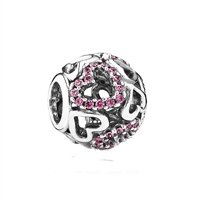Pandora Bead Falling In Love with Fancy Pink