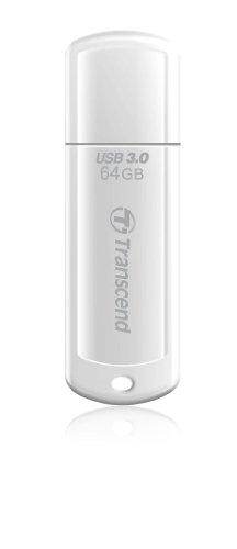 Transcend USBメモリ 64GB USB 3.0 キャップ式 ホワイト (無期限保証) TS64GJF730