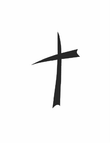 Cross - Religion Religious Church God Christ - Peel & Stick Sticker - Vinyl Wall Decal - - Discounted Sale Item Size : 12 Inches X 18 Inches - 22 Colors Available front-456168