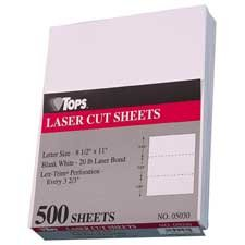 Tops Business Forms Products - Laser Cut Paper, Perf Every 3-1/2