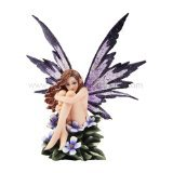"""*New* 2013 Amy Brown Fantasy Periwinkle Flower Fairy Statue Enchanted 6""""h Figurine"""