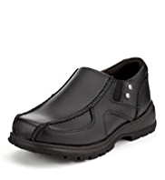 Wide Fit Scuff Resistant Leather Slip-On Shoes
