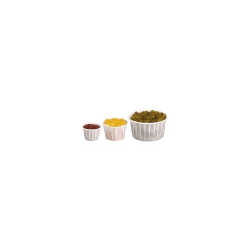 SCC075 - Treated Paper Souffl Portion Cups, 3/4 Oz., White, 250/bag