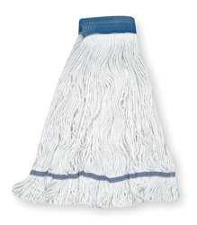 Tough Guy 1TYX2 Wet Mop, Antimicrobial, XL, White