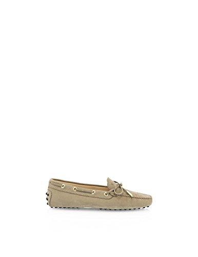tods-woman-womens-loafer-flats-beige-beige-beige-size-45-uk