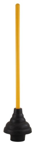 LDR 512 3410 Power Deluxe High Force Cup Ribbed Toilet Plunger, Black