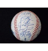 Signed Nationals, Washington (2013) Major League Baseball in Blue Ink by the 2013 Washington Nationals Team (Including Manager Davey Johnson) autographed