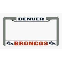 Rico Industries NFL Chrome License Plate Frame, Denver Broncos