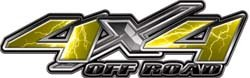 4x4 Offroad Decals Lightning Yellow - 2