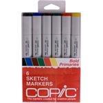Copic Markers 6-Piece Sketch Set, Bold Primaries