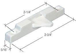 Crl White Window Sash Flip Lock - Bulk 20/Pk front-700045
