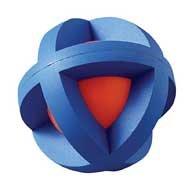 Multi Pet Boingo Ball 3.5in Medium Rubber Dog or Bird Toy