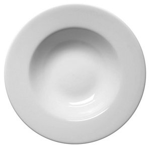 Royal Genware Soup Plates 30cm - Pack of 6 | White Plates, Porcelain Plates - Soup Bowls, Pasta Bowls