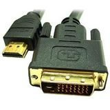 Link Depot 5m Male Gold Plated DVI-D Dual Link To High Speed HDMI Cable (DVI-5-HDMI)