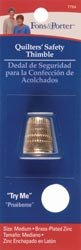 Dritz Fons & Porter Quilters' Safety Thimble Medium 7754; 6 Items/Order