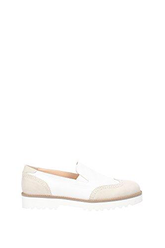 Pantofole Hogan Donna Pelle Ghiaccio e Beige HXW2590R330CHT0222 Beige 38EU