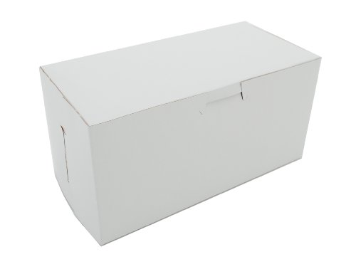 Southern Champion Tray 0924 Premium Clay Coated Kraft Paperboard White Non-Window Lock Corner Bakery Box, 8