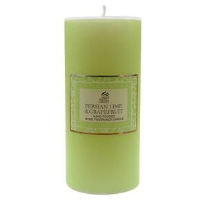 PERSIAN LIME & GRAPEFRUIT - Shearer Scented Candles - 15cm PILLAR CANDLE - 85 Hours
