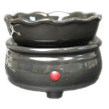 2in1 Black Candle Burner and Tart Warmer