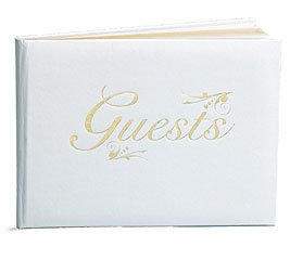 wedding guest registry book trimmed in gold
