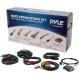 Pyle PHDMIKT1 - 7 Piece HDTV Gold Plated A/V Cable Connection Kit for Plasma, LCD LED DLP DVD and Audio Players - HDMI, S-Video, Tousling and HDMI to DVI adapter