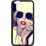 Two for One,2 Cases,$ 9.99!iPhone 6/6s Case,Black/White Sides,Classic Style+Customzie Unique Design iPhone 6s Cases ,TPU Rubber iPhone 6/6s,Lady Gaga 6s Cover
