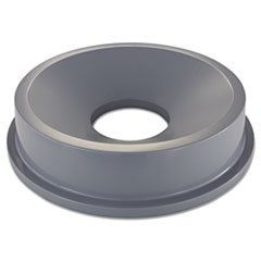 Round Brute Funnel Top, 22 3/8 X 5, Gray front-603628