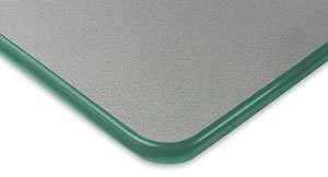 Smith System Clover Husky Activity Tables - Clover Activity Table, Gray with Forest Green Trim
