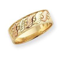 10k Size 6 Tri-color Black Hills Gold Wedding Band Ring