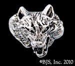 Wolf Ring - Sterling Silver Animal Jewelry