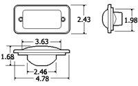 Truck-Lite Model 25 Combination Mount Bulb Replaceable Yellow 25784Y